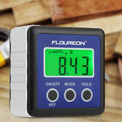 FLOUREON DL134 LCD Display Angle Finder Protractor Angle Digital Level Box-Blue