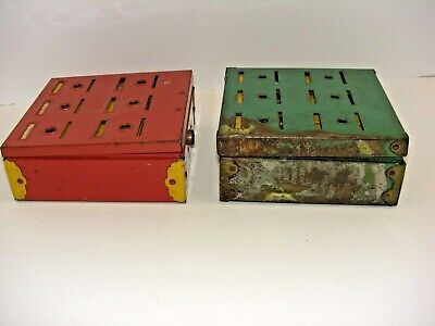 Vintage LOT of 2 Home Budget Bank Tudor Metal Products Corp