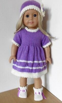 Digital 18 in doll knitting  pattern - American Girl, Our Generation etc #1803