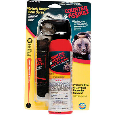 Counter Assault CA-12H/SB Bear Deterrent Spray with Hip Holster 8.1-Ounce
