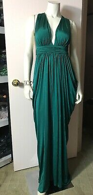 Bebe T-Back Draped Jersey Gown Size XS