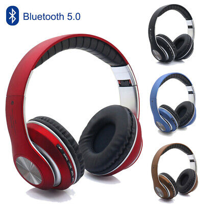 Bluetooth 5.0 Wireless Headphones Earphones Foldable Stereo Mic For IOS Android