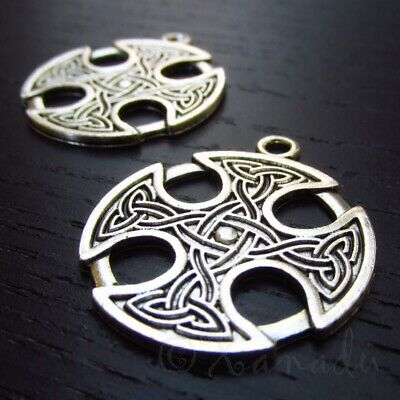 5 Or 10PCs Celtic Birds Charms 47mm Antiqued Silver Plated Pendants C3769-2