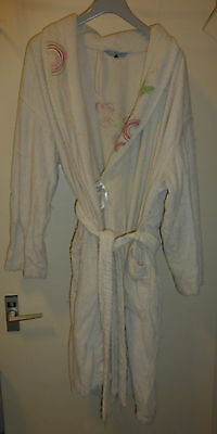 Red Herring Debenhams white embroidered 100% cotton dressing gown. 16 - 18 worn
