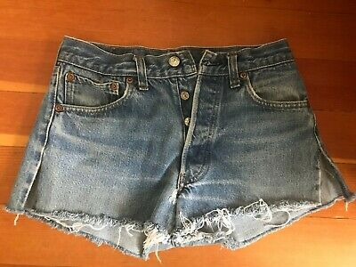 afdce650b6 LEVIS 501 VINTAGE SHRINK TO FIT CUTOFF JEANS SHORTS Cut Off 26 HIGH WAIST
