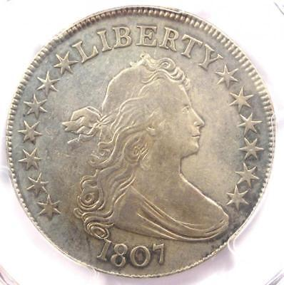 1807 Draped Bust Half Dollar 50C Coin - Certified PCGS XF Detail - Rare Date!