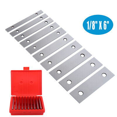 """1/8"""" Ultra Thin Steel Parallel Set 10 Pair Parallels .00002"""" Hardened  in Case"""