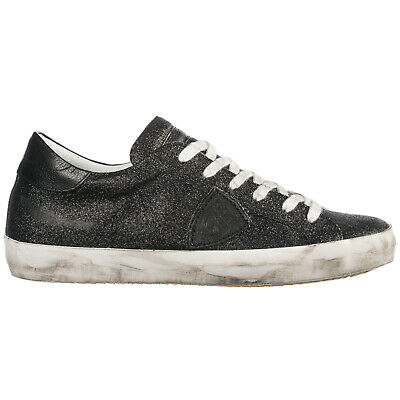 7b0578c26ae7 Philippe Model Women's Shoes Leather Trainers Sneakers New Paris Black A4A