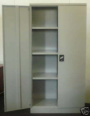 STEEL METAL STORAGE STATIONARY FILING GARAGE CUPBOARD CABINET 1980mm HIGH