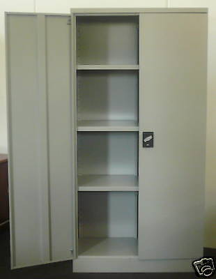 STEEL STORAGE STATIONARY FILING GARAGE CUPBOARD CABINET 1980mm High