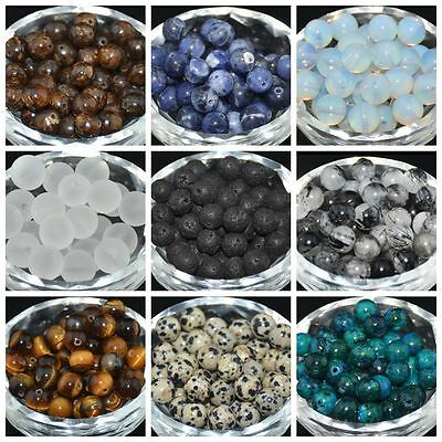 40Pcs Round Spacer Loose Beads 4MM 6MM 8MM 10MM  Lot Natural Stone Gemstone