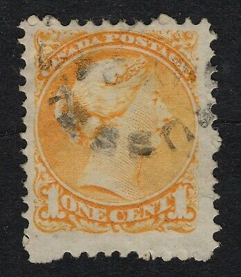 CANADA  #35d 1c 11.50 X 12P   MONTREAL PRINTING    SMALL QUEEN 1873-  FINE