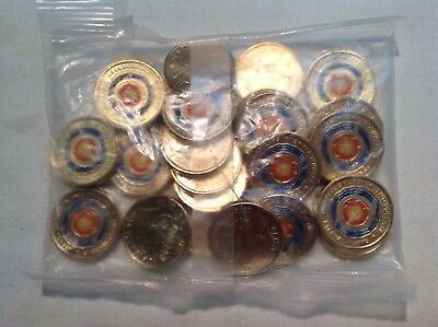 Mint bag 25 x 2018 Australian Eternal Flame Coloured $2.00 Coins UNC