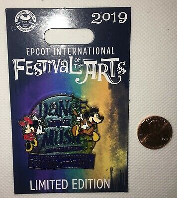 MICKEY MINNIE 2019 Epcot Festival Of Arts Dance To The Music Disney Pin 132505