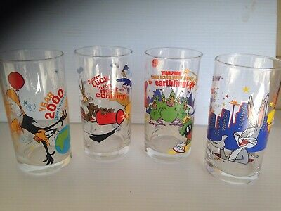 Ixl Collectables Looney Tunes Year 2000 Millennium, 4 Limited Glasses