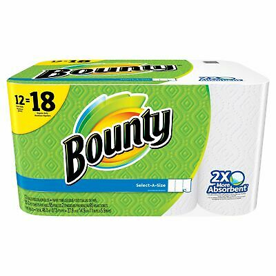 Bounty Select-A-Size Paper Towels -12 Giant Rolls