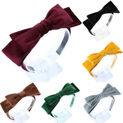 Women's Girls Knot Hairband Velvet Big Bow Headband Tie Hair Hoop Accessories