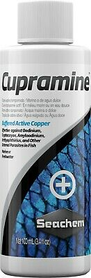 Seachem Cupramine Buffered Active Copper For Marine & Freshwater - 100 ml