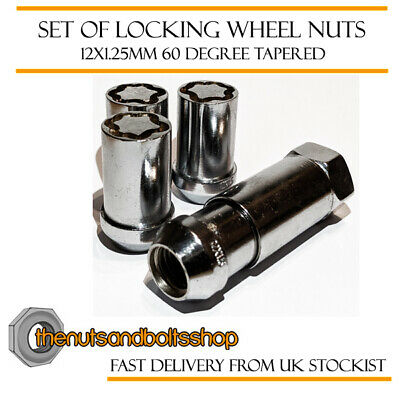 Locking Wheel Nuts 12x1.25 Bolts Chrome Tuner for Toyota GT86 12-16