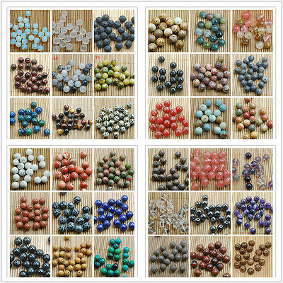 New Wholesale Lot Natural Gemstone Round Spacer Loose Beads 4MM 6MM 8MM 10MM
