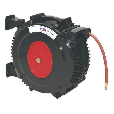 Sealey SA8812 Retractable Air Hose Reel 15mtr Ø13mm ID Rubber Hose