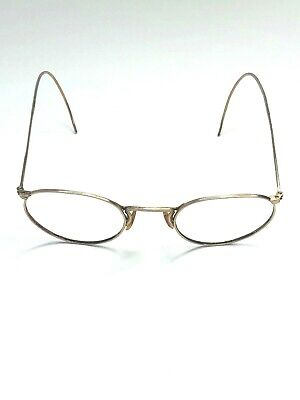 Fulvue AO American Optical 1/10 12K GF Round Vintage Gold Sunglasses 3D