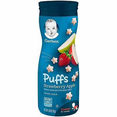 Gerber Graduates Puffs - Strawberry Apple - Baby Cereal Snack 42g (Pack of 1)