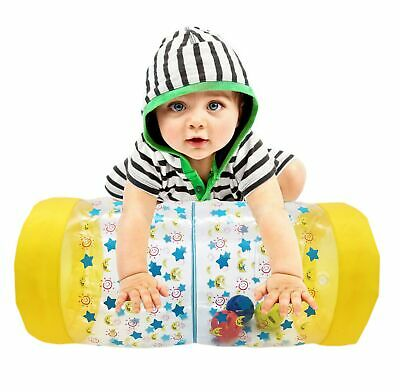 Inflatable Baby Roller Crawling Activity Toy Music Rattle Sound Tummy Time Kids