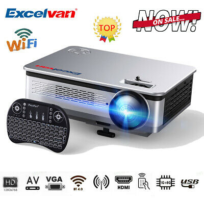 Mini 7000 Lumens Full HD 1080P LED Projector Home Cinema Theater Android 6.0 AUS
