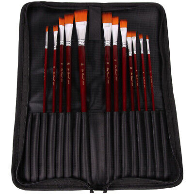 Artist Paint Brushes Storage Bag Case Holder for Oil Acrylic Watercolor Brush AU