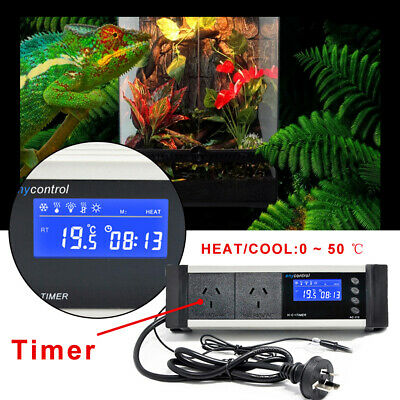 240V Digital Thermostat Temperature Controller Temp Heater Relay Sensor AU PLUG