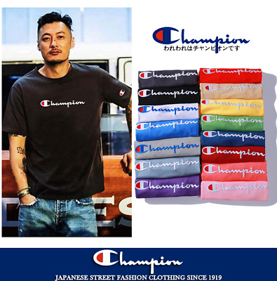 Women's Men's Classic Champion T-shirt Top Tee Embroidered T-shirts Short Sleeve
