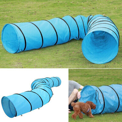5.5m Outdoor Dog Pet Agility Training Open Tunnel Obedience Exercise Pet Toy Fun