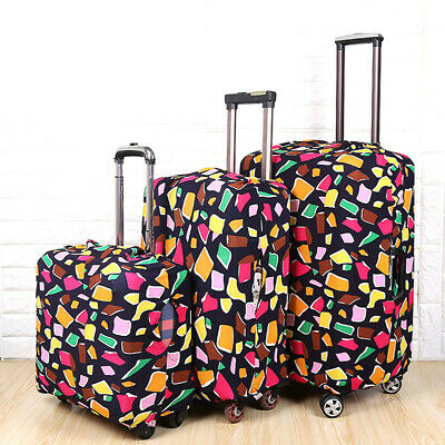 Elastic Suitcase Protective Cover Printed Travel Luggage Dustproof Cover Case