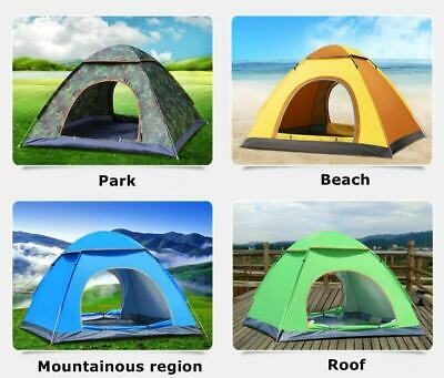 2019 NEW 3-4 Man Automatic Instant Layer Pop Up Camping Tent Outdoor Camping UK