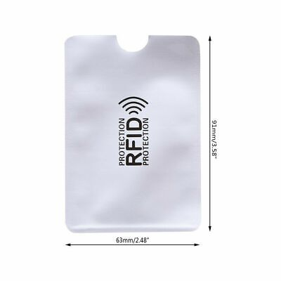 1 Piece RFID Secure Protection Blocking Credit Debit and ID Card Sleeve