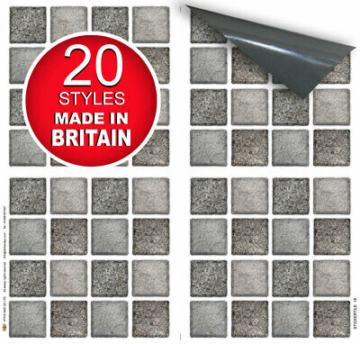 "Self Adhesive Stick On Tile Stickers for Kitchen and Bathroom 6""x6"" Transfers"