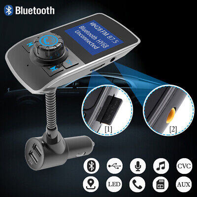 Bluetooth In Car MP3 FM Transmitter Wireless Dual USB LCD Charger Handsfree UK