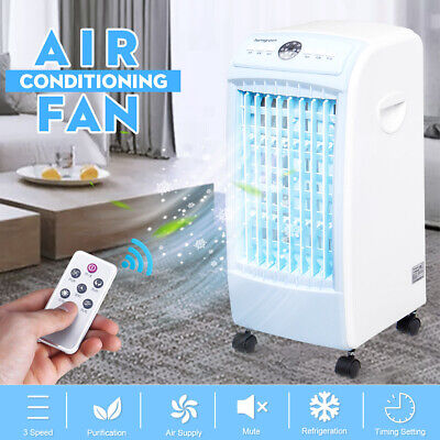 3L Evaporative Air Conditioner Cooler Fan Ice Air Purifier Humidifier 3 Speeds