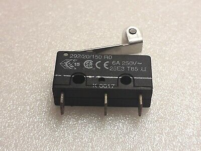 OTEHALL. 292/20/150 RO.6A 250V.Microswitch - Roller. OTEHALL.ENGLAND.