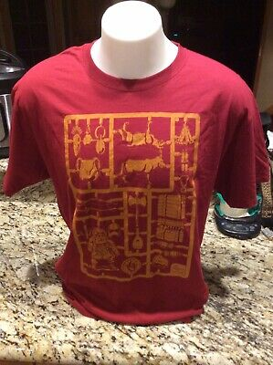 Mens Red Dungeons & Dragons Classic Retro Graphic T Shirt L Lootcrate. Free Ship