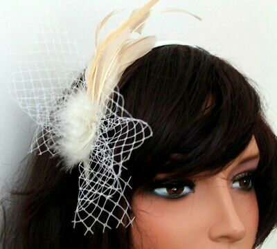 Beige Coffee  Head Alice Band  Satin Band For Festival Wedding Races Prom