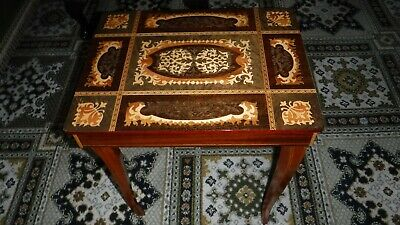 Vintage Italian Sorrento Inlaid Marquetry Table / Jewelry / Musical Box
