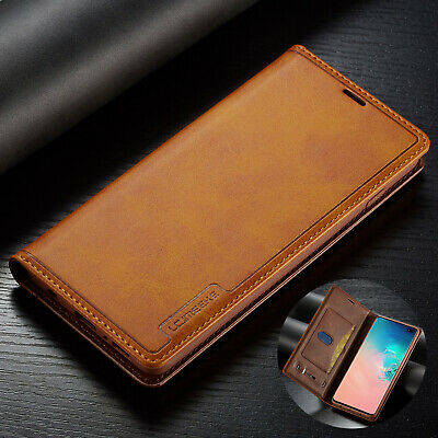 For Samsung Galaxy S10 Plus Case Note 9 S9 S8 Magnetic Leather Card Wallet Cover
