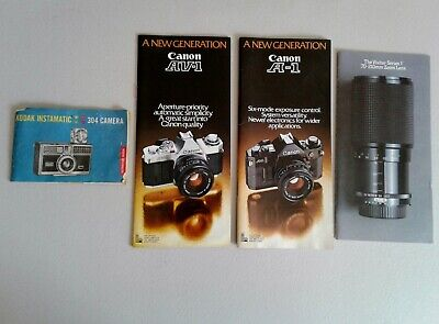 VINTAGE CAMERA BROCHURES Manuals Guides Ads Kodak Canon Rollei