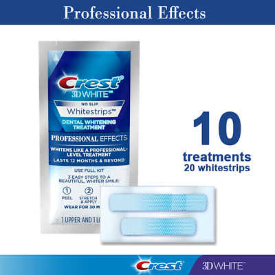 Crest3D White Professional Effects No Slip  - 10 pouches/20 strips