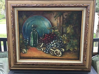 Early 20th Century STILL LIFE OIL PAINTING by AURNHAMER.