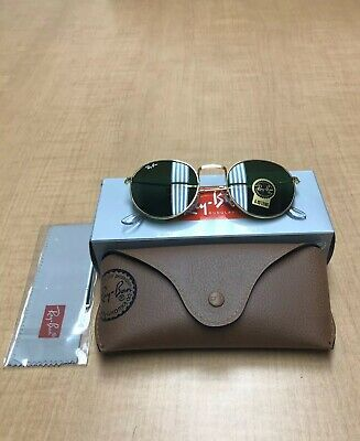 97d25ac88 RAY-BAN SUNGLASSES ROUND Metal 3447 90644C Gold Green Photochromic ...