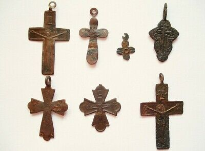 Archäologische Funde orthodoxe russische Kreuze Russian orthodox crosses