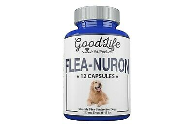 1 YEAR SUPPLY Monthly Flea Control Dogs 21 -45 Lbs. 205 Mg GoodLife 12 Capsules